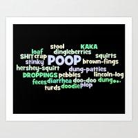 Poop Poster Art Print