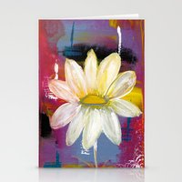 White Daisy Stationery Cards