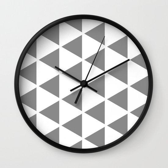 Sleyer Grey on White Pattern Wall Clock