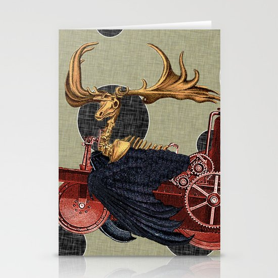 Stitchpunk Caribou Stationery Card