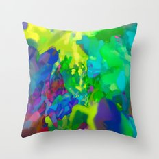 Yellow Lyrical Abstraction  Throw Pillow