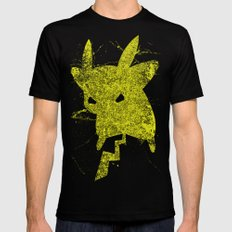 Yellow Monster Mens Fitted Tee Black SMALL