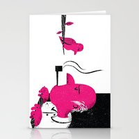 Bird and Man Stationery Cards