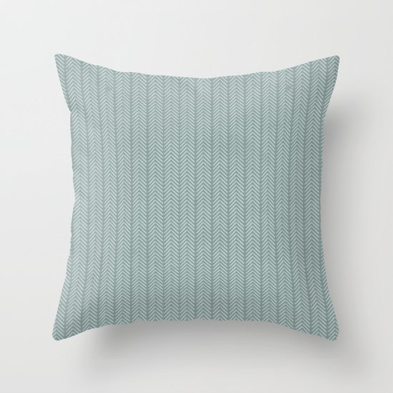 stamb chevron Throw Pillow