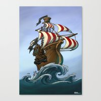 Fancy Pirates! Canvas Print