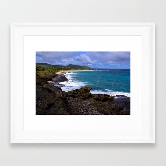 """""""Hanauma Bay"""" Framed Art Print"""