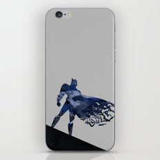 Bat man  Dark blue hero Knight comic digital brush iPhone & iPod Skin