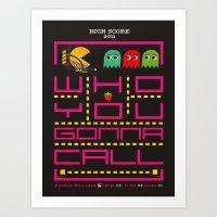 Pacman Ghostbuster Art Print