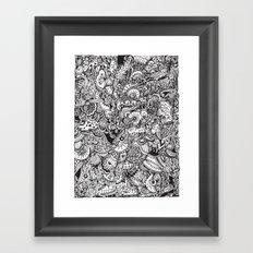 Detailed rectangle, black and white  Framed Art Print