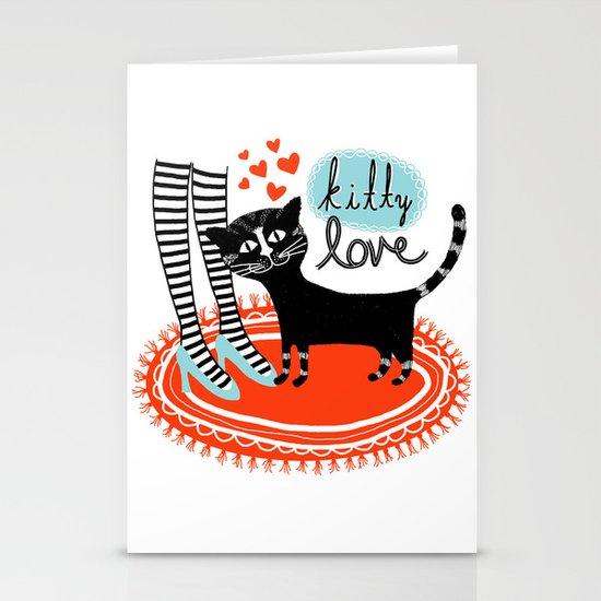 Kitty Love Stationery Card