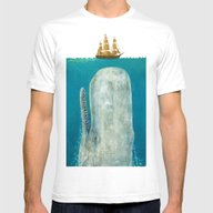The Whale  Mens Fitted Tee White LARGE