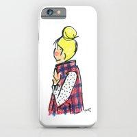 Top Knot. Buffalo Plaid Vest. iPhone 6 Slim Case