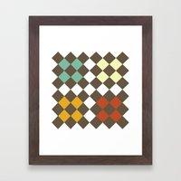 Checkers Fall Framed Art Print