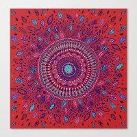 Red And Blue Mandala  Canvas Print
