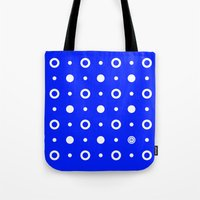 Dots / Blue Tote Bag