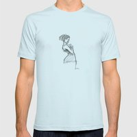 Lady-1 Mens Fitted Tee Light Blue SMALL