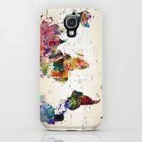 Galaxy S4 Cases featuring map by mark ashkenazi