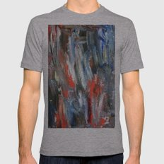 Untitled Abstract #6 Mens Fitted Tee SMALL Tri-Grey