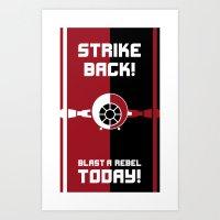Blast A Rebel Art Print