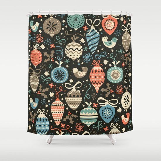 Festive Folk Charms Shower Curtain