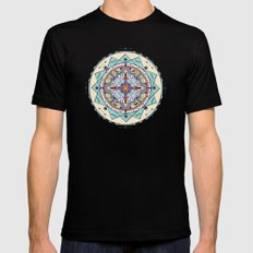 Time and Light Native Shapes Mandala Mens Fitted Tee Black SMALL