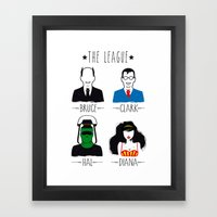 THE LEAGUE Framed Art Print