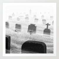 Drawlloween 2015: Grave Art Print