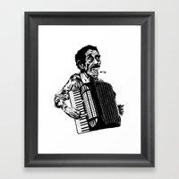 Acordeão Framed Art Print