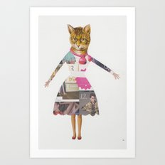 Crazy Cat lady Art Print