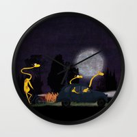 Voyage by night II (animal party) Wall Clock