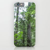 iPhone & iPod Case featuring California forest by Flysmile