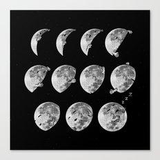 lunar phases of sleep Canvas Print
