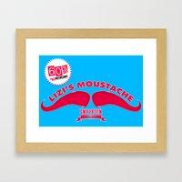 Lizi's Moustache Emporium Framed Art Print