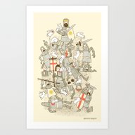 Art Print featuring Bad Tempered Rodents by Anna-Maria Jung