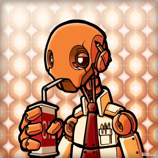 Lunch! - Robot  Art Print