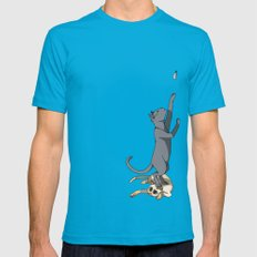 The Cats Mens Fitted Tee Teal SMALL