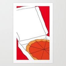 Hot Pizza Box Art Print