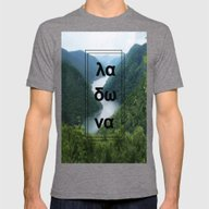 GreeceLake Ladona Mens Fitted Tee Tri-Grey SMALL