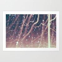 Laser Beams Art Print