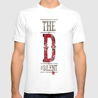 Django - The D Is Silent Mens Fitted Tee White SMALL