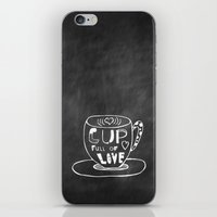 Cup Full Of Love Chalkbo… iPhone & iPod Skin