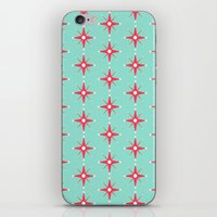 Retro Red Stars iPhone & iPod Skin