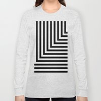 Black and White L Stripes // www.pencilmeinstationery.com Long Sleeve T-shirt