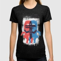 Zeter & Mordio Womens Fitted Tee Tri-Black SMALL