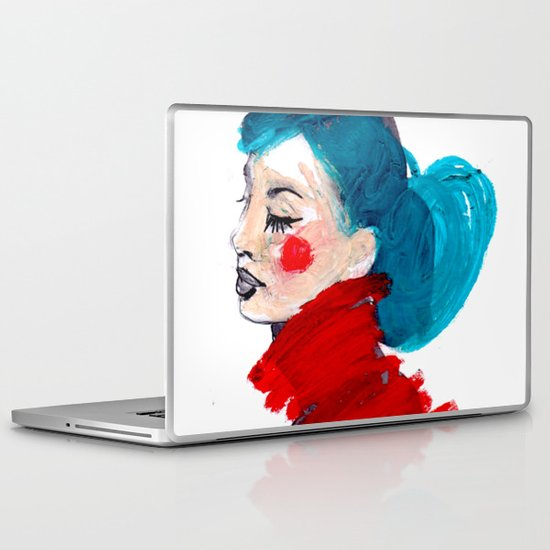 COLOURFUL AUDREY Laptop & iPad Skin
