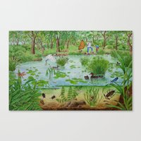 A Day Of Forest (4). (th… Canvas Print