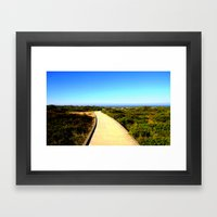 Path to the Great Southern Ocean Framed Art Print