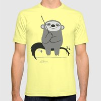 Patience Mens Fitted Tee Lemon SMALL