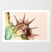 Miss Liberty Art Print