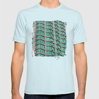 Urban Art Mens Fitted Tee Light Blue SMALL